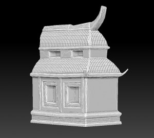 zbrush-temple-wing-chinese-style