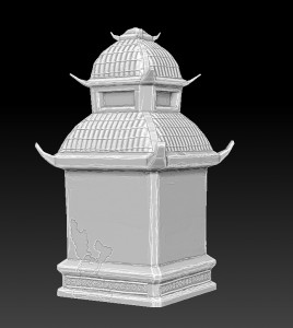 zbrush-temple-tower-chinese-style