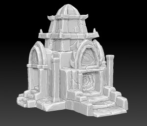 zbrush-temple-tower-thai-style